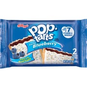 Kelloggs Pop-Tarts Frosted Blueberry Toaster Pastries, 3.5 oz. Boxes, 36/Pack