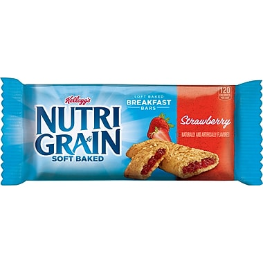 Kellogg's Strawberry Flavored Nutri-Grain Bars, 1.3 oz. Bars, 16 Bars/Box