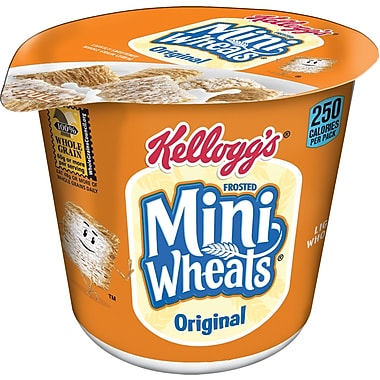 Kellogg's® Frosted Mini Wheats® Breakfast Cereal, 2.5 oz. Cups, 6 Cups/Box