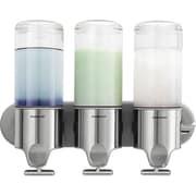 simplehuman® Wall-Mounted Triple Pump Dispenser, Silver