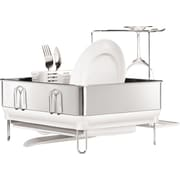 simplehuman® Compact Steel Frame Dishrack, White