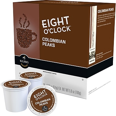Eight O'Clock® 100% Colombian, Regular Keurig® K-Cup® Pods, 18 Count