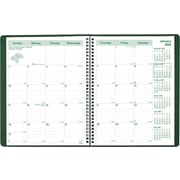 "Brownline® 2016 EcoLogix® Monthly Planner, Recycled, Dec. 2015 - Jan. 2017. Green. 11"" x 8-1/2"" (CB435W.GRN)"