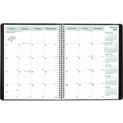 "Brownline® 2016 EcoLogix® Monthly Planner, Recycled, Dec. 2015 - Jan. 2017, Black, 11"" x 8-1/2"" (CB435W.BLK)"