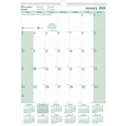 "Brownline® 2016 EcoLogix® Monthly Wall Calendar, Recycled Paper, Jan. - Dec., 12"" x 17"" (C171103)"