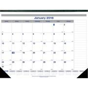 """Blueline® 2016 Net Zero Carbon® Monthly Desk Pad Calendar, Jan. - Dec., 22"""" x 17"""" (C177847)"""