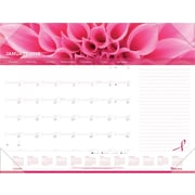 "Brownline® 2016 Pink Ribbon Monthly Desk Pad Calendar, Jan. - Dec., 22"" x 17"" (C1832PNK)"