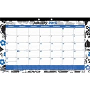 "Brownline® 2016 Monthly Desk Pad Calendar. Blossom Design, Jan. - Dec., 17-3/4"" x 10-7/8"" (C195112-16)"