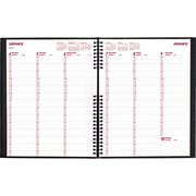 "Brownline® 2016 CoilPro® Hard cover Weekly Planner, Jan. - Dec., Black, 11"" x 8-1/2"" (CB950C.BLK)"
