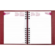 "Brownline® 2016 CoilPro® Hard Cover Daily Planner, Jan. - Dec., Red, 8-1/4"" x 5-3/4"" (CB389C.RED)"