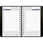"Blueline® 2016 DuraGlobe® Soft Cover DailyPlanner. Sugarcane Paper, Jan. - Dec., Black, 8"" x 5"" (C210.21T)"