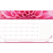"Brownline® 2016 Pink Ribbon Monthly Desk Pad Calendar, Jan. - Dec., 17-3/4"" x 10-7/8"" (C1822PNK)"
