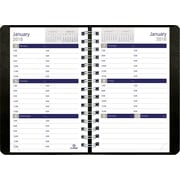 "Blueline® 2016 DuraGlobe® Soft Cover Weekly Planner, Sugarcane Paper, Jan. - Dec., Black, 8"" x 5"" (C215.21T)"
