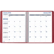"Blueline® 2016 Net Zero Carbon® Monthly Planner, Dec. 2015 - Jan. 2017, Burgundy, 9-1/4"" x 7-1/4"" (C830.83T)"