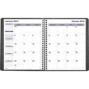 "Blueline® 2016 Net Zero Carbon® Monthly Planner, Dec. 2015 - Jan. 2017, Black, 9-1/4"" x 7-1/4"" (C830.81T)"