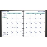 "Blueline® 2016 MiracleBind®Hard Monthly Planner, Aug. 2015 - Dec. 2016, Black, 11"" x 9-1/16"" (CF1512C.81)"