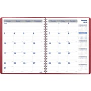 "Blueline® 2016 Net Zero Carbon® Monthly Planner, Dec. 2015 - Jan. 2017, Burgundy, 11"" x 8-1/2"" (C835.83T)"
