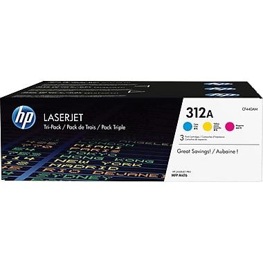 HP 312A (CF440AM) Ens. 3 cartouches de toner HP LaserJet cyan, magenta et jaune d'origine