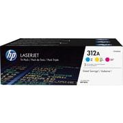 HP – Cartouches de toner 312A, 3/paquet (CF440AM), cyan/jaune/magenta