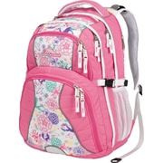 High Sierra Swerve Backpack, Pink Lemonade/Wonderland/White