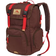 High Sierra Emmett Backpack, Flapover Retro, Chocolate/Crimson