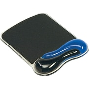 Kensington® Duo Gel Wave Mouse Pad With Wrist Rest, Blue/Black