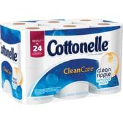Kleenex® Cottonelle® Gentle Clean Care Bath Tissue, 1-Ply, 12 Double Rolls/Pack