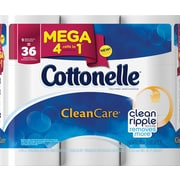 Kleenex® Cottonelle® Gentle Clean Care Bath Tissue, 1-Ply, 9 Mega Rolls/Pack
