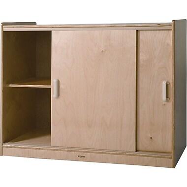 Whitney Brothers Sliding Doors Storage Cabinet, 32