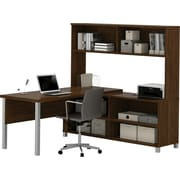 Pro-Linea L-Desk with hutch Oak Barrel