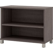 Pro-Linea 2-shelf bookcase in Bark Grey