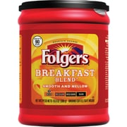 Folgers Breakfast Blend Ground Coffee, Regular, 10.8 oz. Can