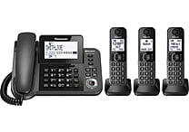 Panasonic KX-TGF383M Link2Cell Bluetooth® Corded/Cordless Phone with 3 Handsets and Answering Machine