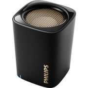 Philips BT100BLK Bluetooth Speaker, Black