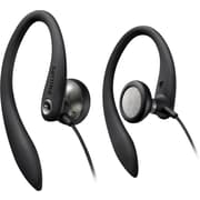 Philips SHS3200BLK Sport Bud Earhook Headphones, Black
