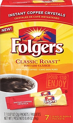 Folgers Classic Roast Instant Single Serve 7 Packets