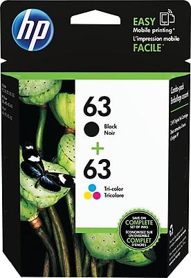 HP 63 Black Color Ink Cartridges LOR46AN 140 2 Pack
