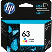 HP 63 Tri-Color Ink Cartridge, F6U61AN#140