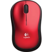 Logitech M185 Wireless Optical Mouse, Red (910-003635)
