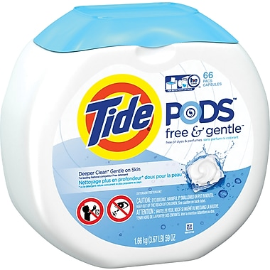 Tide Pods, Free & Clear, 66 count