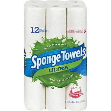 SpongeTowels® Ultra Choose-A-Size Paper Towels, 12-Pack