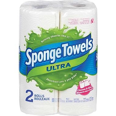 SpongeTowels® Ultra Choose-A-Size Paper Towels, 2-Pack
