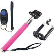 Looq Selfie Clicker Kit Selfie Stick - Pink