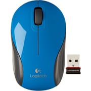 Logitech M187 Wireless Mini Optical Mouse, Ambidextrous, Blue (910-002728)