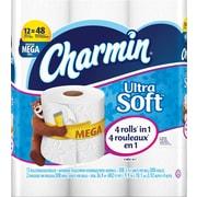 Charmin Ultra Soft Toilet Paper, White,12 Mega Rolls (94050PK)