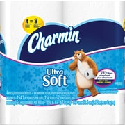 Charmin® Ultra Soft Toilet Paper, 2-Ply, 4 Rolls/Pack, 10 Packs/Carton, 40 Rolls/Carton (94051/PGC 86775)