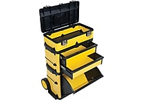 Stalwart Rolling Stacking Portable Metal Trolley Tool Box Chest