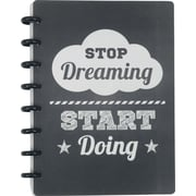 "Staples® Arc System Customizable Poly Notebook System, Stop Dreaming Quote, 6-1/2"" x 8-1/2"", 60 Sheets"