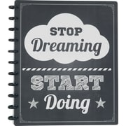 "Staples® Arc System Customizable Poly Notebook System, Stop Dreaming Quote, 9-1/2"" x 11-1/2"", 60 Sheets"