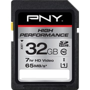 PNY 32GB High Performance SDHC CL10 65MB/s Flash Memory Card